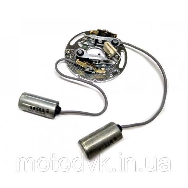 Плата контактная с конденсаторами на мотоцикл Ява 12В