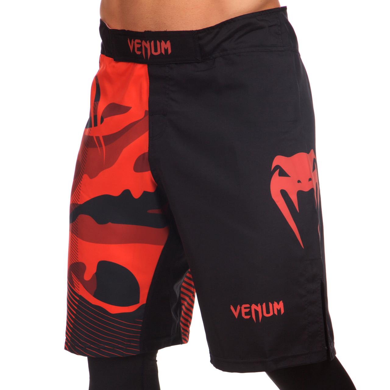Шорты ММА VENUM CAMO HERO черно-красные CO-5814, L