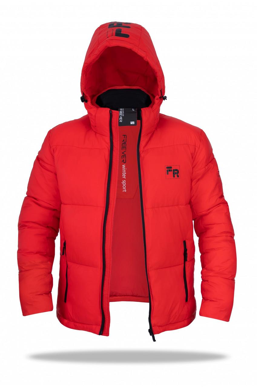 Мужская зимняя куртка Freever  красная