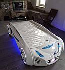 Кровать машинка Tesla Star белая Турция, фото 5