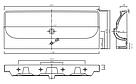 TRAFFIC умывальник мебельный 120*48см, с одним отверстием, с переливом (пол.), фото 2