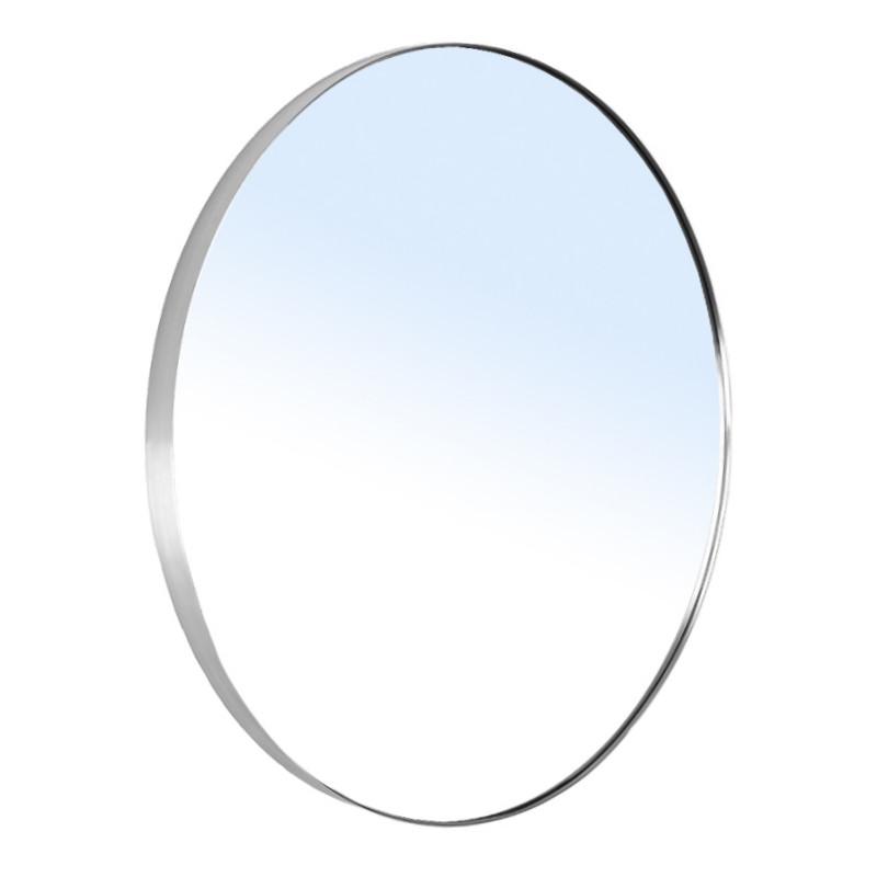Зеркало круглое 60*60см на шлифованной нержавеющей раме, с контурной белой подсветкой