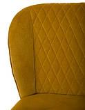 М'який стілець M-44 гірчичний вельвет Vetro Mebel, фото 7