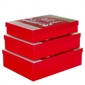 """Набор из 3 коробок """"Новогодний"""" 39*30*11 (8211-020), фото 2"""