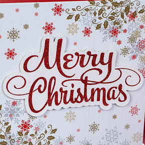 "Набор из 3 коробок ""Merry Christmas"" белый 28*28*11 (8211-008), фото 2"