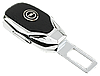 Заглушка - переходник ремня безопасности  с логотипом OPEL VIP КЛАССА (Авиационная сталь, кожа), фото 2