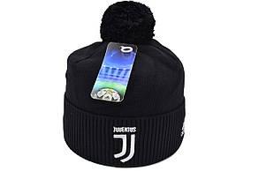 Шапка з помпоном Flexfit FC Juventus 53-57 см Чёрная (F-0918-142), фото 2