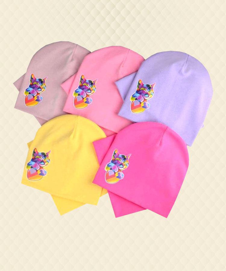Детский комплект Кошка Лайк шапка и хомут  трикотаж (6-10лет)