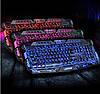 Клавиатура V-100 + мышка - игровой комплект проводная клавиатура + мышь с подсветкой молния, фото 3
