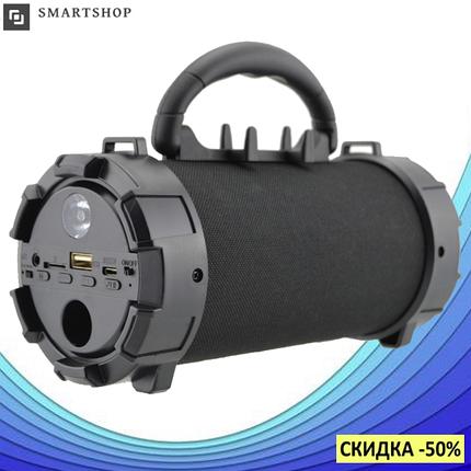 Портативная bluetooth колонка SPS F18 Super Bass с фонариком, Черная, фото 2