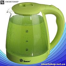 Электрочайник Domotec MS-8212 (2,2 л / 2200 Вт) - Чайник электрический с LED подсветкой Салатовый, фото 3