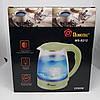 Электрочайник Domotec MS-8212 (2,2 л / 2200 Вт) - Чайник электрический с LED подсветкой Салатовый, фото 5