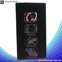 Игровые наушники A6 со светодиодной подсветкой и микрофоном - проводные компьютерные наушники USB, AUX, черные, фото 2