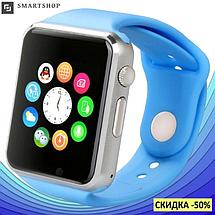 Умные часы Smart Watch Phone A1, смарт часы в стиле Apple Watch Голубые, фото 3