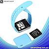 Умные часы Smart Watch Phone A1, смарт часы в стиле Apple Watch Голубые, фото 4