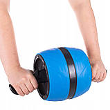 Ролик (колесо) для мышц пресса (живота) с возвратным механизмом Springos AB Wheel FA5000 синий, фото 2
