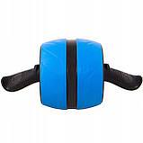 Ролик (колесо) для мышц пресса (живота) с возвратным механизмом Springos AB Wheel FA5000 синий, фото 4