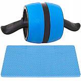 Ролик (колесо) для мышц пресса (живота) с возвратным механизмом Springos AB Wheel FA5000 синий, фото 5