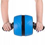 Ролик (колесо) для мышц пресса (живота) с возвратным механизмом Springos AB Wheel FA5000 синий, фото 7
