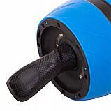 Ролик (колесо) для мышц пресса (живота) с возвратным механизмом Springos AB Wheel FA5000 синий, фото 8