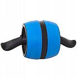 Ролик (колесо) для мышц пресса (живота) с возвратным механизмом Springos AB Wheel FA5000 синий, фото 9