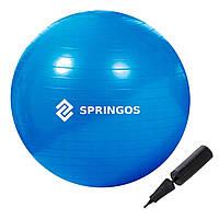 Мяч для фитнеса фитбол Springos 85 см Anti-Burst Blue SKL41-277827