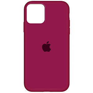 Чехол накладка xCase для iPhone 12 Mini Silicone Case Full rose red
