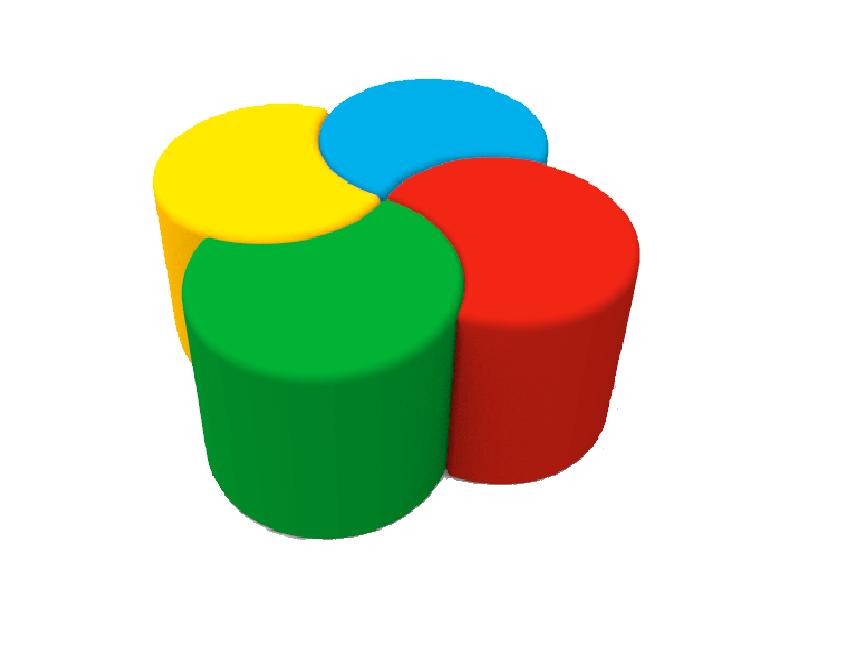 Комплект детских пуфов Полумесяц Max Kidigo (43050)