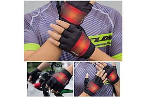 Перчатки велосипедные GUB Gradient с гелем черный с красным размер L