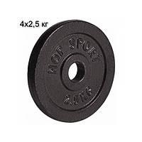 Сет з металевих дисків 4х2,5 кг