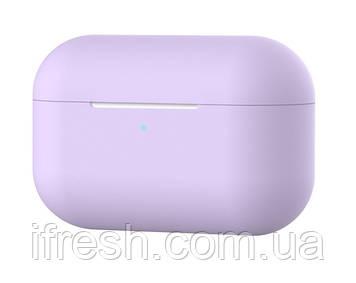 Чехол силиконовый для наушников Apple Airpods Pro, силикон, разные цвета Пурпурный