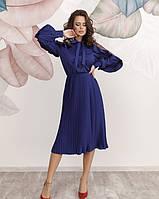 Платье женское миди с плиссированным низом