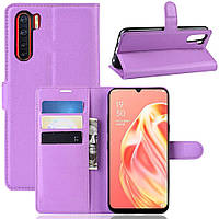 Чехол-книжка Litchie Wallet для Oppo Reno 3 / A91 Violet