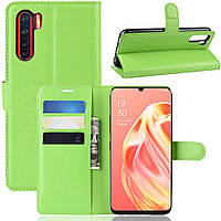 Чехол-книжка Litchie Wallet для Oppo Reno 3 / A91 Green