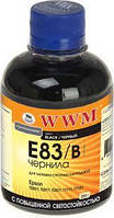 Чернила WWM для EPSON Stylus Photo R270/P50/R290/RX615/T50/TX650 (Black) E83/B 200г