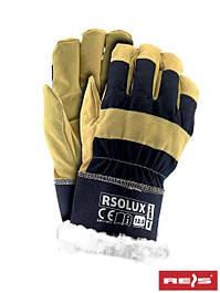 Перчатки кожаные и усиленные кожаными вставками рабочие