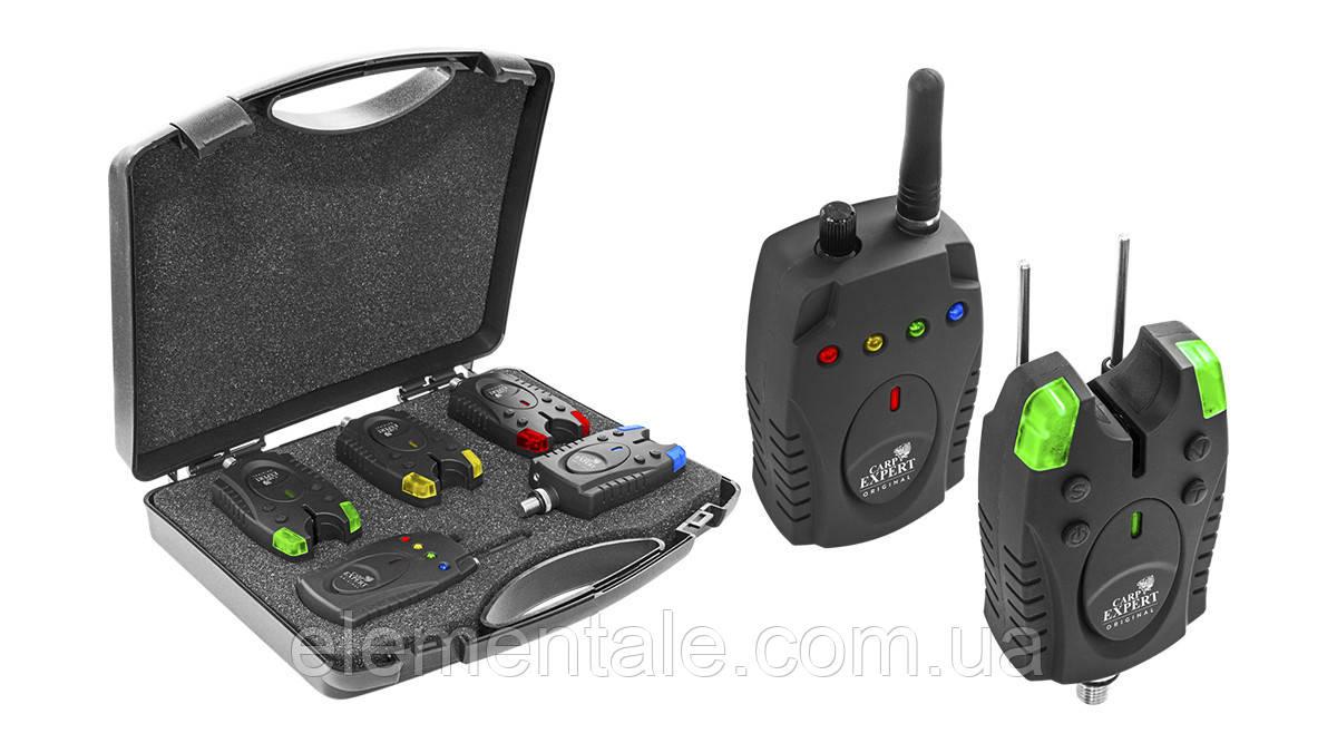 Набір сигналізаторів в кейсі Carp Expert Piave Wireless Bite Alarm Set 150 м 4+1