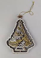 """Новогодняя деревянная игрушка, украшение на елку """"Елка""""."""