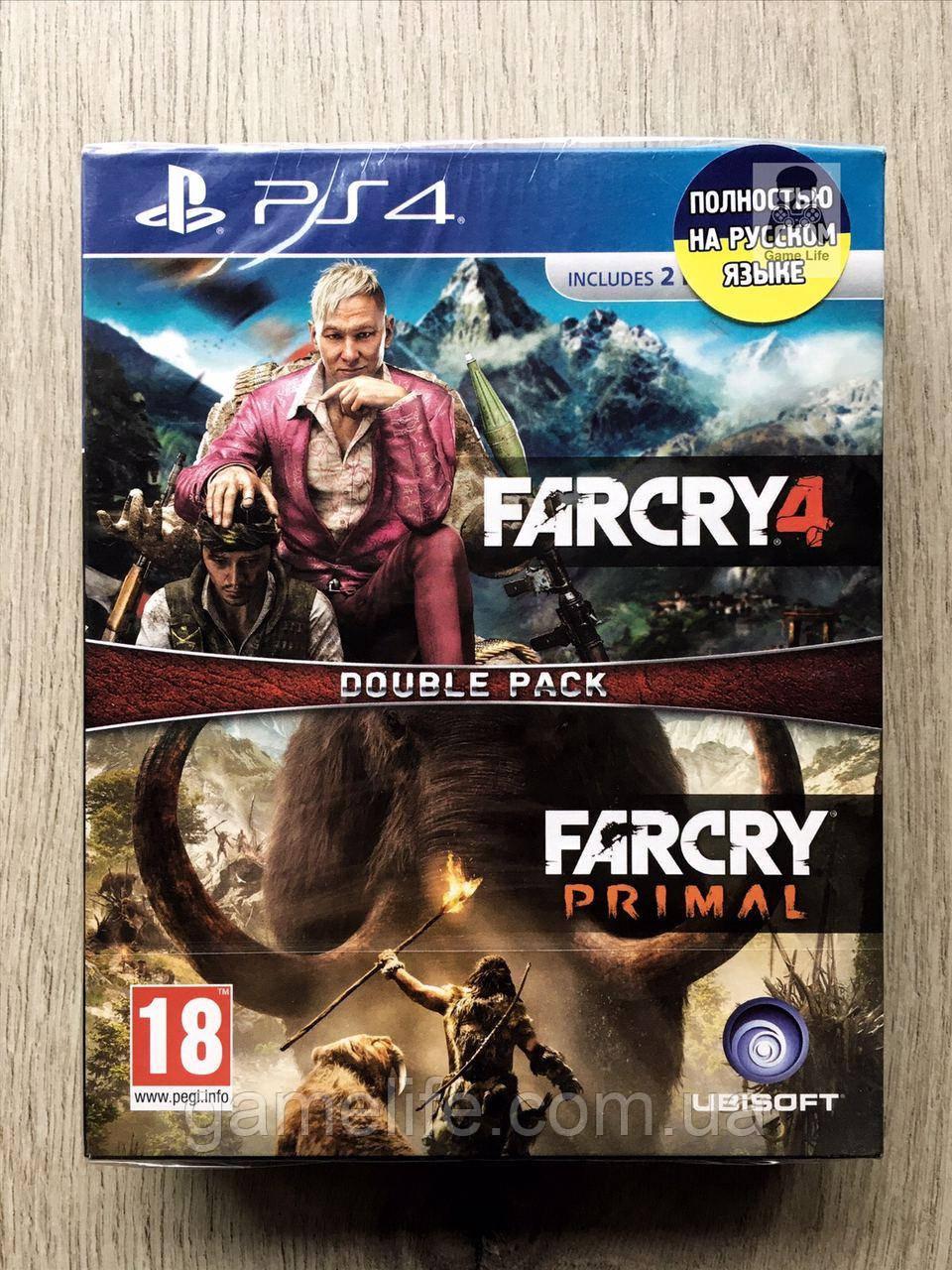 Far Cry 4 + Far Cry Primal (русская версия) PS4