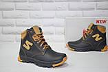 Зимові підліткові високі шкіряні черевики в стилі New Balance, фото 8