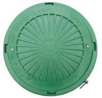 Люк смотровой №2 с запорным мех (max 2т) зеленый
