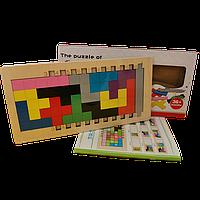 Деревянная развивающая настольная игра Катамино + книжка с заданиями CandyWood