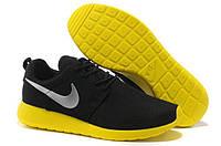Кроссовки мужские беговые Nike Roshe Run (найк роше ран) черные 42