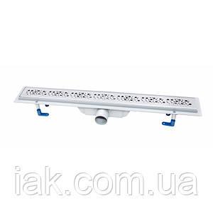 Трап линейный Qtap Dry FC304-700 с нержавеющей решеткой 700х73