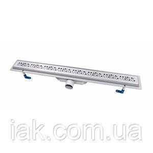 Трап линейный Qtap Dry FC304-800 с нержавеющей решеткой 800х73
