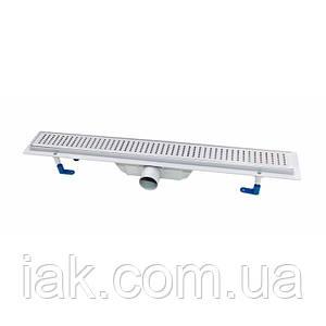Трап линейный Qtap Dry FB304-900 с нержавеющей решеткой 900х73