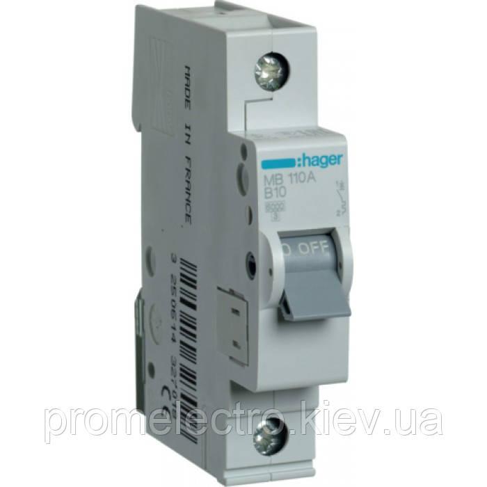 Автоматичний вимикач Hager In50 А, 1п, С, 6 kA, 1м (MC150A)