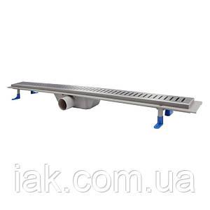 Трап линейный Qtap Dry FA304-900 с нержавеющей решеткой 900х73