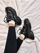 """Кроссовки Balenciaga Triple S """"Черные"""", фото 3"""