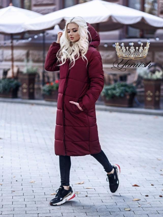Женское зимнее пальто. Размеры - С, М, Л. Цвета - черный, хаки, марсала, электрик.